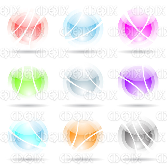 vibrant spheres with fake transparency stock illustration