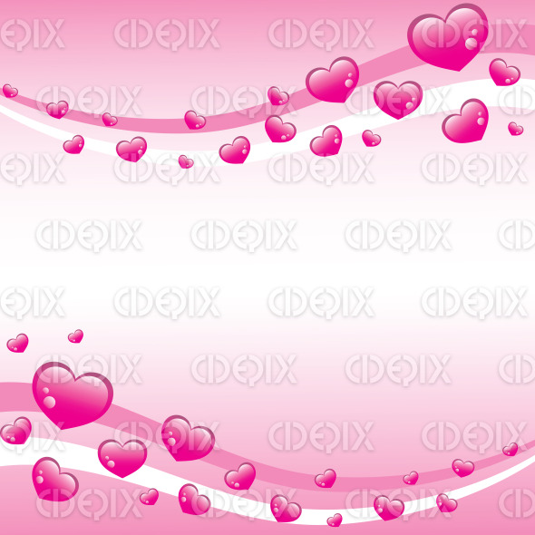 valentines background with pink hearts stock illustration