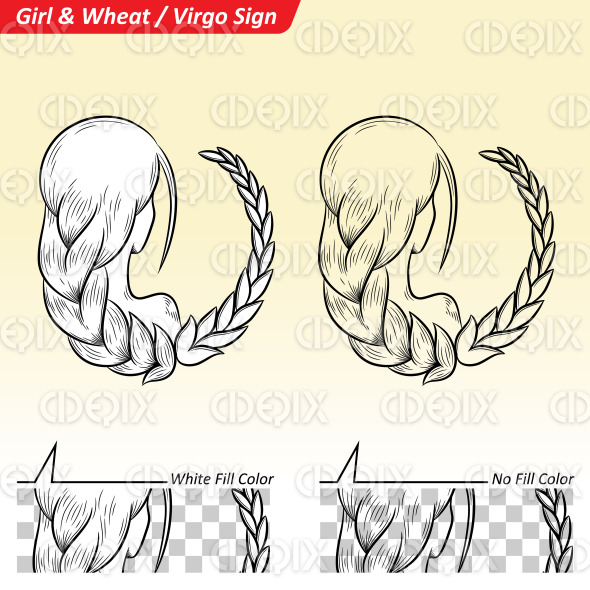 Virgo Zodiac Star Sign Sketch stock illustration
