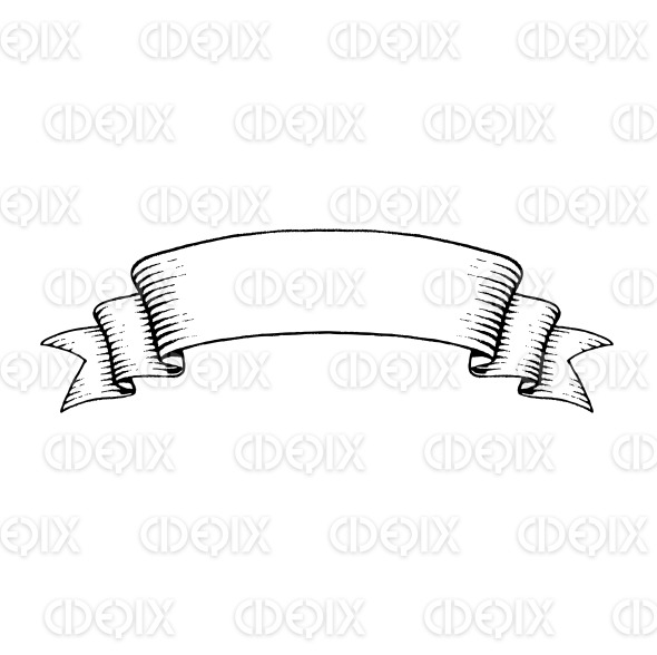 Vectorized Ink Sketch of an Old Banner stock illustration