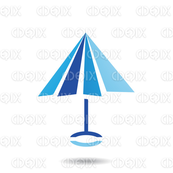 Abstract Symbol of Umbrella Shaped Icon stock illustration