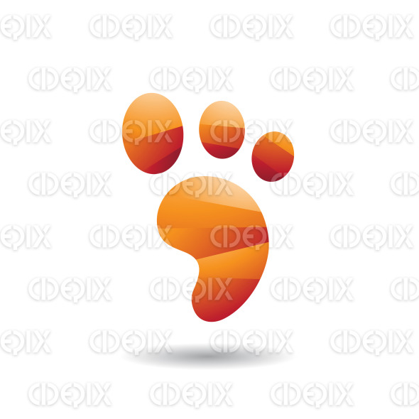 Abstract Symbol of Animal Footprint Icon stock illustration