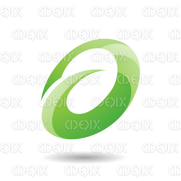 Abstract Symbol of Oval Letter A Icon stock illustration