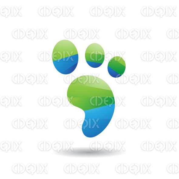 Abstract Symbol of Animal Footprint Icon stock illustration