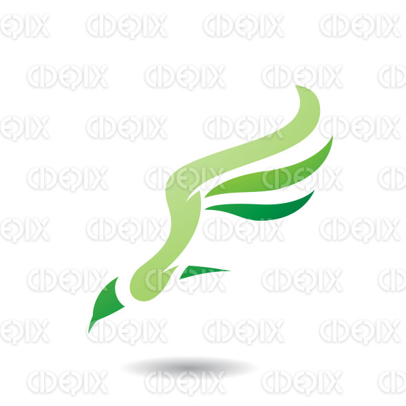 Abstract Symbol of Long Wing Bird Icon stock illustration