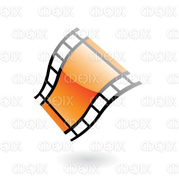 3d glossy film reel (strip) stock illustration