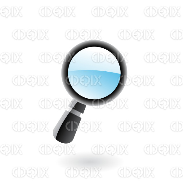 3d glossy magnifier isolated on white stock illustration