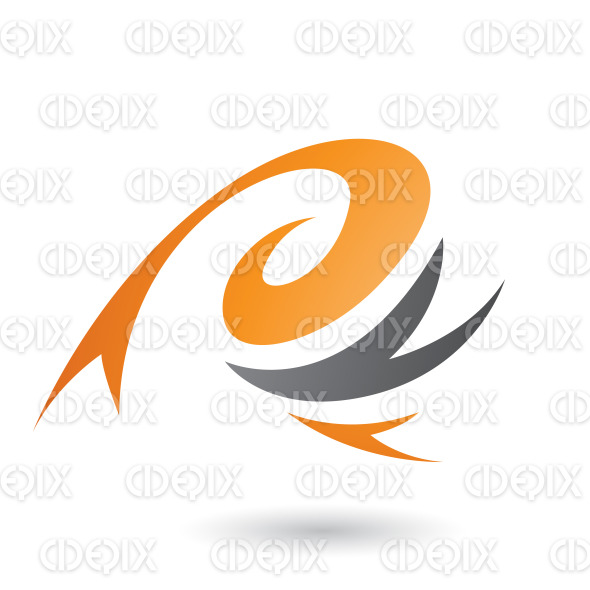 Orange Abstract Wind and Twister Shape Vector Illustration stock illustration