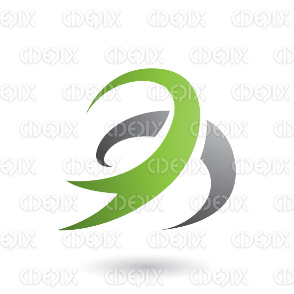 Green Abstract Wind and Twister Shape Vector Illustration stock illustration