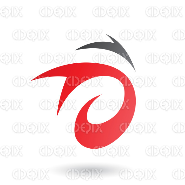 Red Abstract Wind and Twister Shape Vector Illustration stock illustration