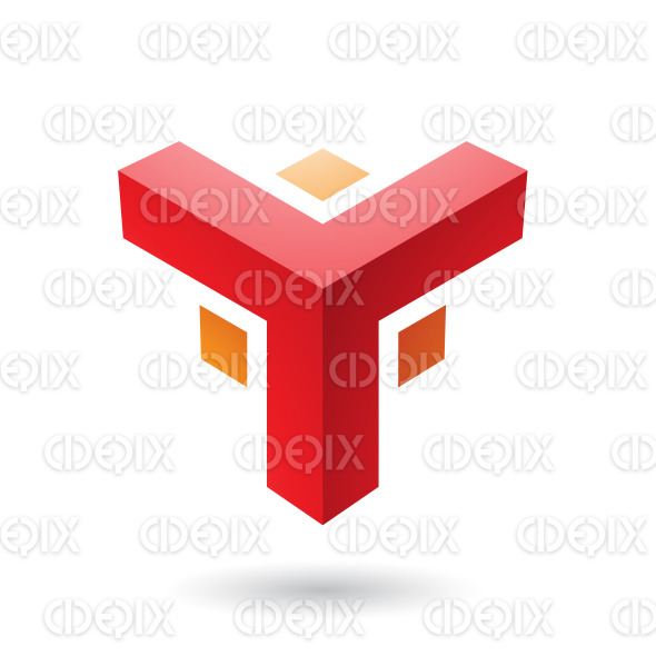 Red and Orange Futuristic Corner Shape Vector Illustration stock illustration