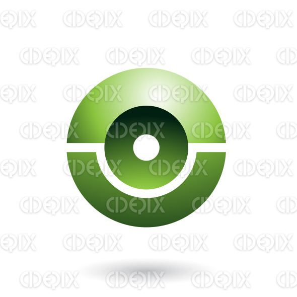 Green Futuristic Shiny Sphere Vector Illustration stock illustration