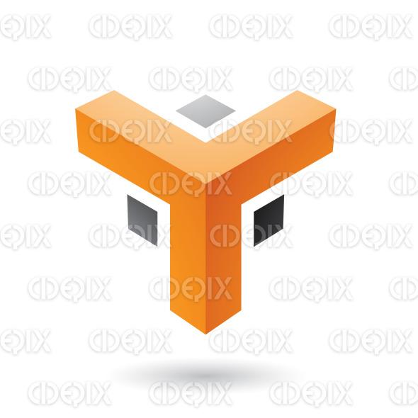 Orange and Black Futuristic Corner Shape Vector Illustration stock illustration
