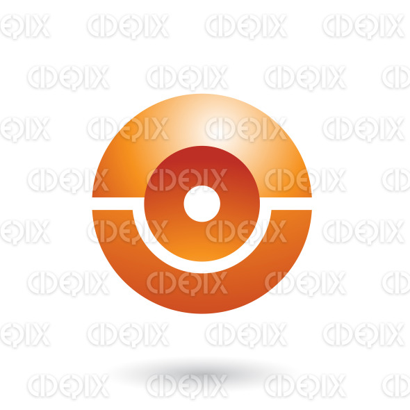 Orange Futuristic Shiny Sphere Vector Illustration stock illustration
