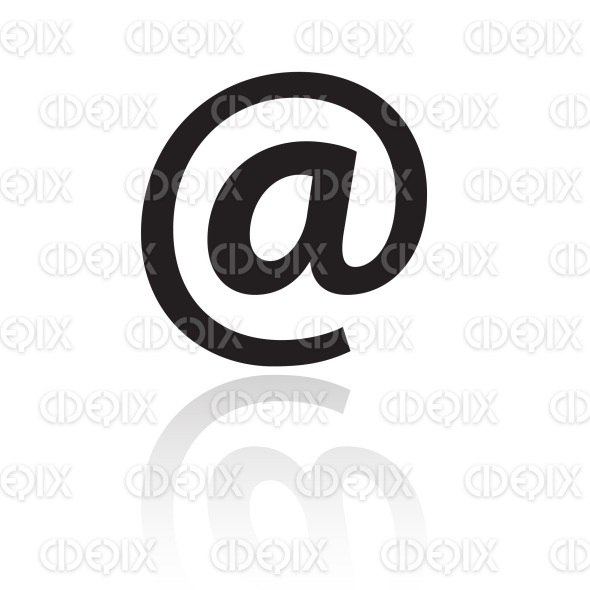black email symbol stock illustration