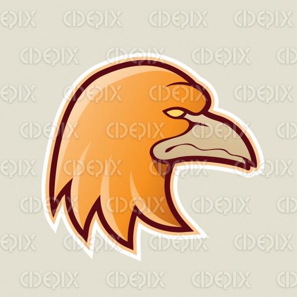 Orange Eagle Head Cartoon Icon Vector Illustration stock illustration