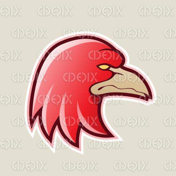 Red Eagle Head Cartoon Icon Vector Illustration stock illustration
