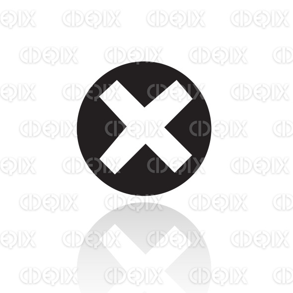 black simplistic error icon stock illustration