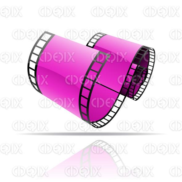 purple glossy film reel (strip) stock illustration