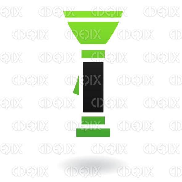 black and green flashlight stock illustration