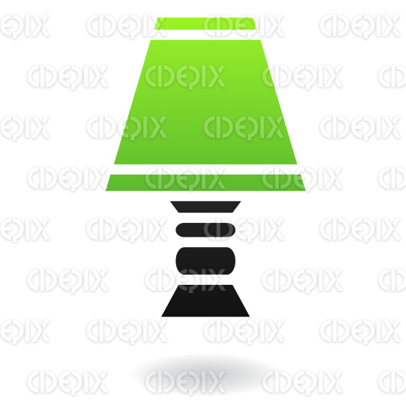 green and black lampshade icon stock illustration