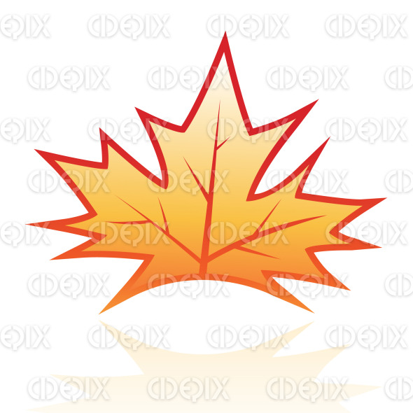brown glossy maple vine leaf icon stock illustration