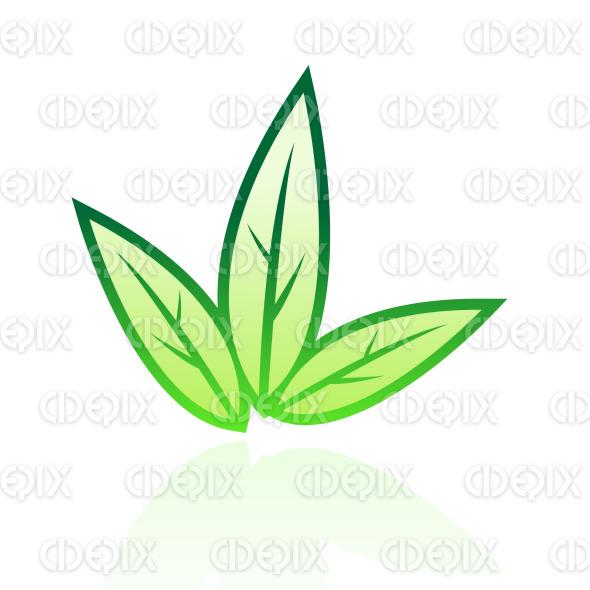 Tobacco Leaf Illustration Green glossy tobacco leaf icon
