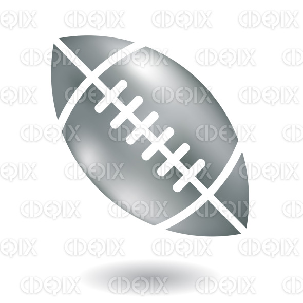 metallic silver american football ball stock illustration
