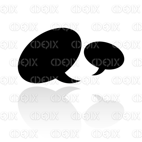 black speech bubbles icon stock illustration