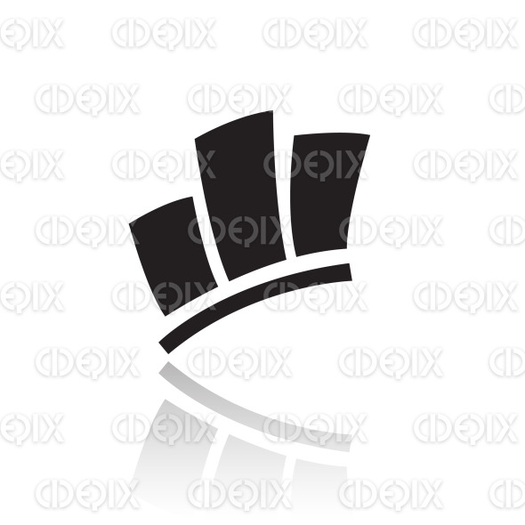 black stats icon stock illustration