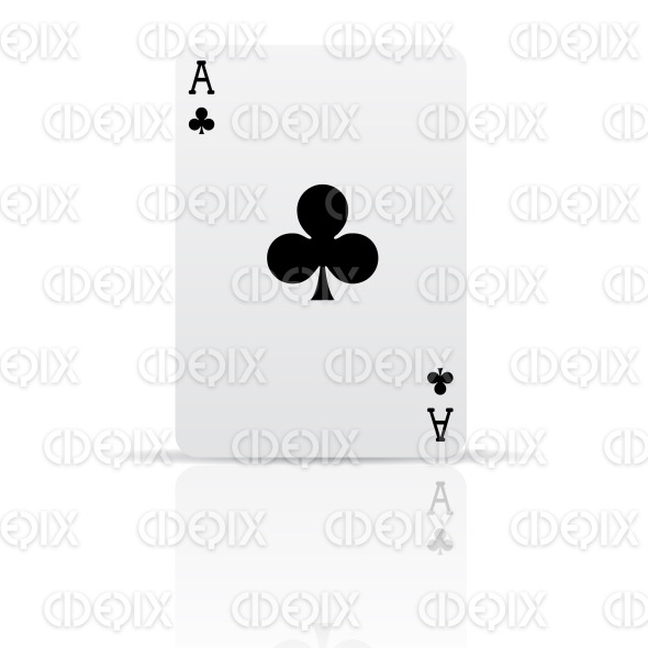 suit clubs playing card stock illustration
