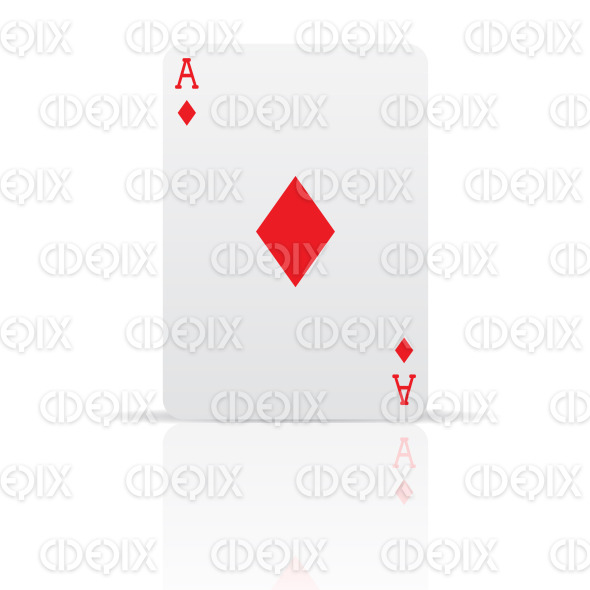 suit diamonds playing card stock illustration