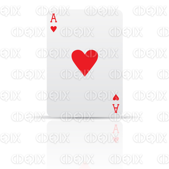 suit hearts playing card stock illustration