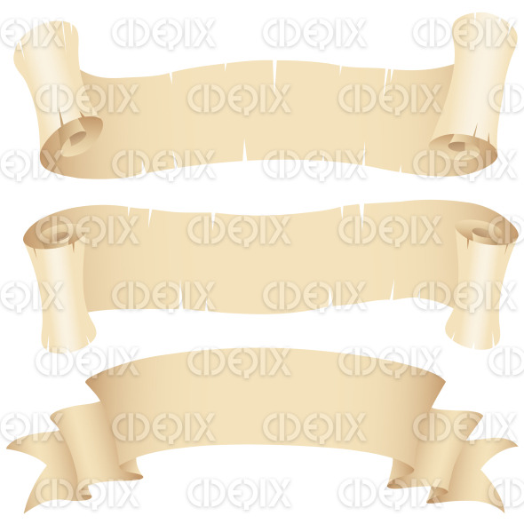 Old Paper Banners Set stock illustration