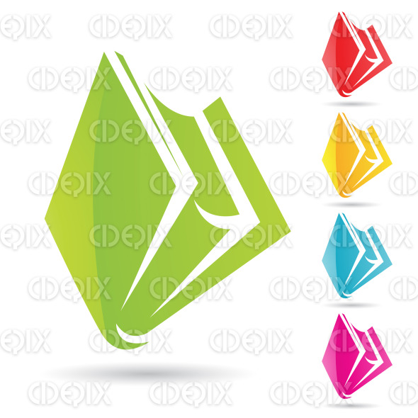 colorful book icons and designs stock illustration