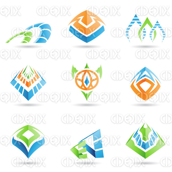 mystic tribal style abstract symbols and icons stock illustration