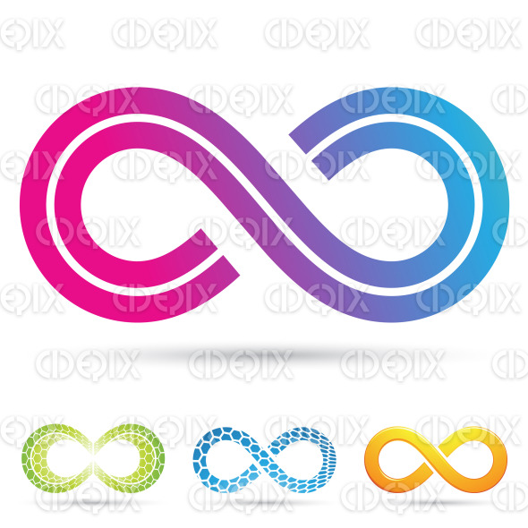 retro style infinity symbol stock illustration