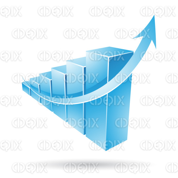 glossy blue stats bars stock illustration