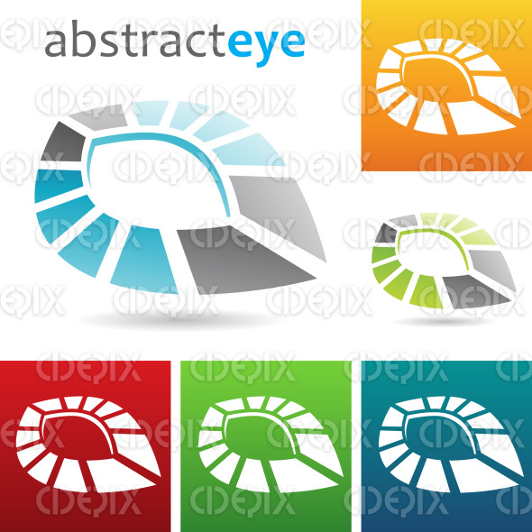 geometric abstract eye shape icon stock illustration