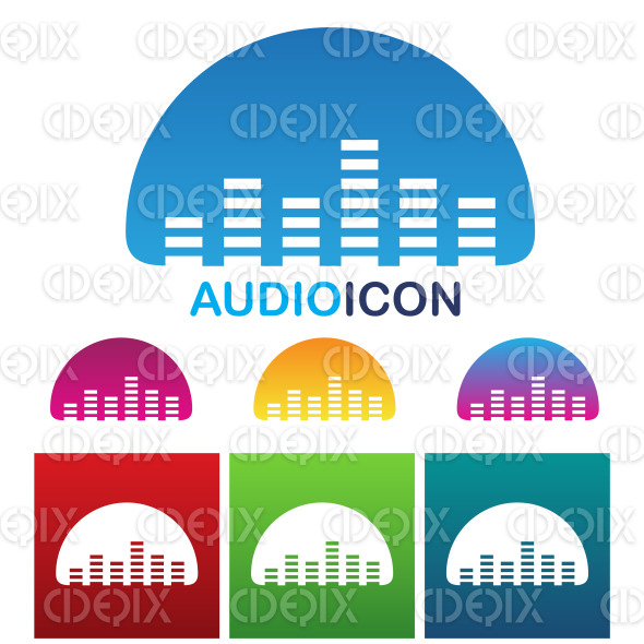 Audio equalizer sound and music icon stock illustration