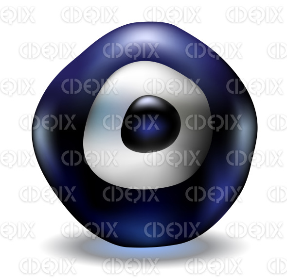 lucky charm blue evil eye bead stock illustration