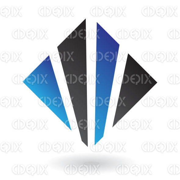 blue and black straight lines square logo icon stock illustration