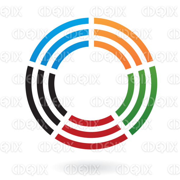 abstract colorful circles logo icon stock illustration