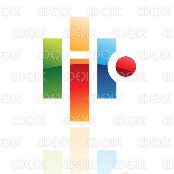 abstract glossy retro geometric shapes logo icon stock illustration