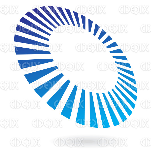 abstract blue circle lines in perspective logo icon stock illustration