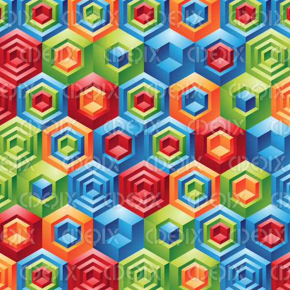 colorful fun games cubes and hexagon background stock illustration
