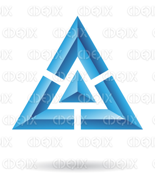 Blue Pyramid Logo Abstract Blue Pyramid