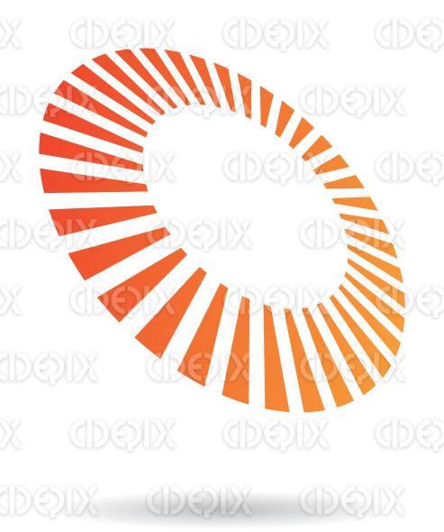 abstract orange rectangular lines circle logo icon stock illustration