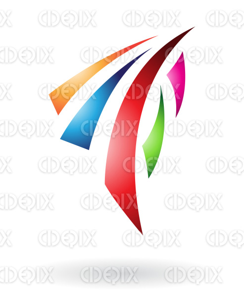 abstract blue green red orange and purple shield logo icon cidepix