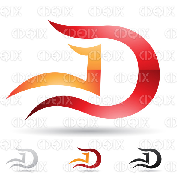 Abstract Designs And Logo Icons For Letter D Set 6 Cidepix